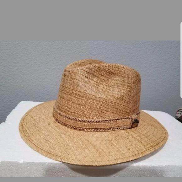 92fb05ec596bf TOMMY BAHAMA SHADE MAKER FEDORA RAFFIA STRAW HAT